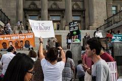 En fridsam demonstration Royaltyfria Bilder