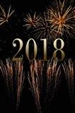 2018 en fuegos artificiales Fotos de archivo