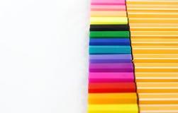 En full uppsättning av den färgrika föreläsningspennan royaltyfri bild