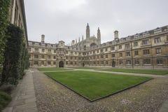 En fyrkant för Cambridge universitet Fotografering för Bildbyråer