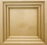 En fyrkantig guld- bild av ramen Arkivfoton