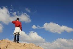 En gå i molnen Fotografering för Bildbyråer