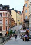En gå på Södermalm i Stockholm Royaltyfria Foton