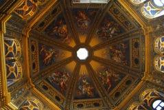 En gång åttahörnig tempel för dell'Incoronata i centret i Lodi i Lombardy (Italien) Royaltyfri Bild