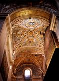 En gång Goldenet Dome av Bergamo med fönstret Arkivfoto