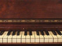 En gammal antik pianobakgrund Arkivbilder
