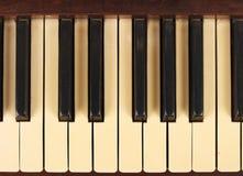 En gammal antik pianobakgrund Royaltyfria Bilder