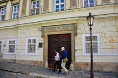 En gammal arvbyggnad i Nitra, Slovakien royaltyfri bild