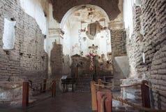 En gammal beskickning, Tumacacori nationellt historiskt parkerar royaltyfri fotografi
