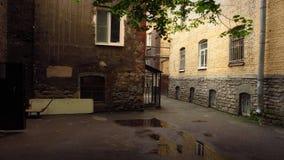 En gammal borggård Royaltyfria Bilder
