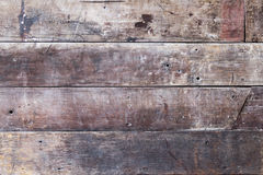 En gammal brun trätextur Royaltyfri Fotografi