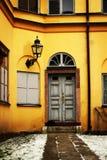 En gammal dörr Arkivbild