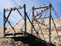 En gammal konstruktion för guanosamlare på de Ballestas öarna, Peru Arkivbild