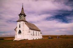 En gammal kyrka i North Dakota royaltyfri fotografi