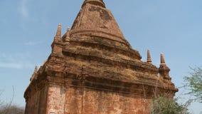 En gammal och övergiven tempel lager videofilmer