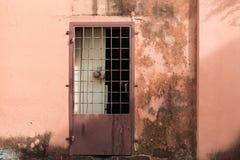 En gammal och lantlig dörrbakgrund Arkivfoton