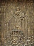 En stele med tio Commandments Arkivfoto