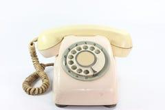 En gammal telefondail Arkivbild