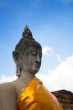 En gammal tempel i Thailand, Wat Yai Chai Mongkol Royaltyfri Foto