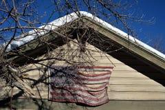 En gammal U S-flagga - Utah Arkivfoto