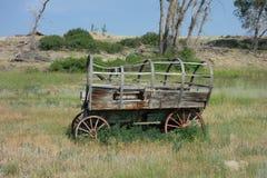En gammal vagn på skärm Royaltyfri Foto
