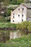 En gammal watermill Arkivfoto