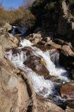 En garganta Gualtaminos de cascada de Detalle Images stock
