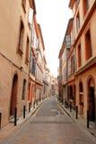 En gata av Toulouse Arkivbilder