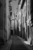 En gata i Carcassone Arkivfoto