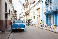 Havana gata, Kuba Arkivfoto