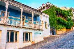 En gata i den gamla staden Royaltyfri Fotografi