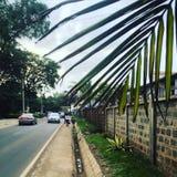 En gata i Nairobi Arkivbilder