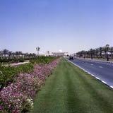 En gata i Sharjah, UAE Arkivfoton