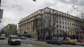 En gata i Sofia i vintern fotografering för bildbyråer