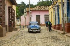 En gata i Trinidad, Kuba Royaltyfri Bild