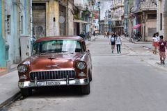 En gata på havannacigarren VÄ°eja royaltyfri fotografi