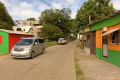 En gataplats i det karibiskt Royaltyfria Bilder