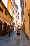 En gataplats i Florence royaltyfri bild