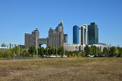 En gatasikt i Astana Arkivbild