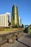 En gatasikt i Astana Arkivfoto