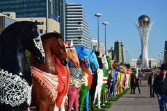En gatasikt i Astana Royaltyfri Bild