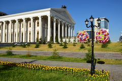En gatasikt i Astana/Kasakhstan Royaltyfria Foton