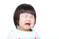 En geïsoleerde baby die schreeuwen stock afbeeldingen