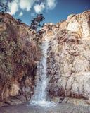 天堂瀑布En Gedi以色列 图库摄影