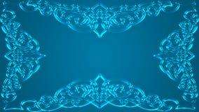En genomdränkt grönaktig-blått bakgrund med ramen Royaltyfri Fotografi