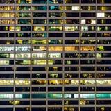 En geometrisk modell av fönster på en Manhattan skyskrapa Arkivfoto