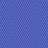 En geometrisk modell med kuber som är olika skuggor av blått Royaltyfri Fotografi