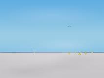 En glömd strand Fotografering för Bildbyråer