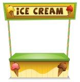 En glassställning Arkivbilder