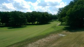 En golfbana Arkivfoton